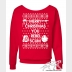 """Star Wars Ugly Christmas Sweater """"Merry Christmas You Rebel Scum"""" Slouchy Sweats"""