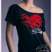 YOU KNOW NOTHING Jon Snow. Off The Shoulder Slouchy Black Tshirt. Game of Throne