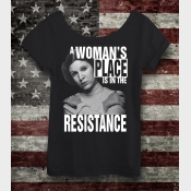 A Woman's Place Is In The Resistance Star Wars Off The Shoulder Slouchy Shirt