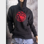 Targaryen Sigil Game of Thrones Fitted Hoodie