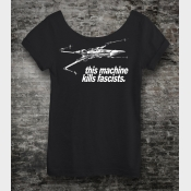 This Machine Kills Fascists Star Wars Off The Shoulder Slouchy Shirt