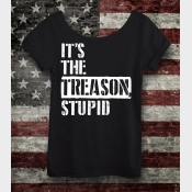 It's The Treason, Stupid Women's Off the Shoulder Slouchy Tee