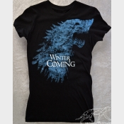 Winter Is Coming Game of Thrones Women's Fitted Tee