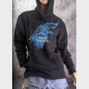 Fitted Hoodie Winter Is Coming Game of Thrones Stark Direwolf Sigil