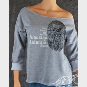 Star Wars Wookiee Off The Shoulder Slouchy Flashdance Sweatshirt