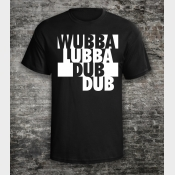 Rick and Morty Shirt: Wubbalubbadubdub Shirt. Unisex Tee in Black.